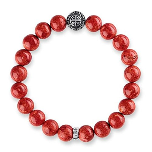 Thomas Sabo Unisex-Armband Ethno Rot Glam & Soul  925 Sterling Silber 17 cm A1681-062-10-L17