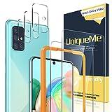 [2+3 Stück] Uniqueme Schutzfolie für Samsung Galaxy A71 4G / 5G Panzerglas mit Installationswerkzeug + Samsung A71 Kamera Panzerglas Displayschutzfolie.