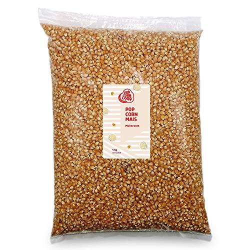 Popcorn Mais Mushroom 5 Kilo Kinopopcorn für Popcornmaschine Popcornloop Beste Qualität Ohne Gentechnik Vegan Glutenfrei