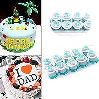 DIY クッキー型 ケーキ型 抜き型 ケーキモール ケーキの装飾 キャラ弁 お弁当 手作り 数字0-9 アルファベットA-Z 製菓用品(Numbers 10PCS)