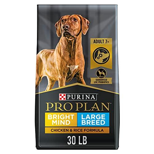 Purina Pro Plan Large Breed Senior Dog Food, Bright Mind 7+ Chicken & Rice Formula - 30 lb. Bag