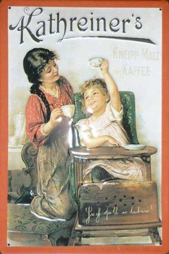 Blechschild Nostalgieschild - 20 x 30 cm schwere Qualität: Kathreiner's Malz-Kaffee