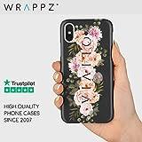 Personalised Name Custom Hard Phone Case Flower Design iPhone 11,11 Pro, 11 Pro Max, X, Xs, Xr, Samsung