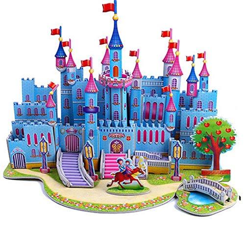Rompecabezas DIY Atractivo De Dibujos Animados Castillo Jardín Casa 3D Rompecabezas Aprendizaje Juguetes Educativos para Niños Artesanía