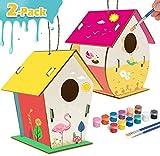 Kinderhandwerk Holz Kunsthandwerk für Kinder im Alter von 8-12 Jahren DIY Bird House Kit für Kinder zum Bauen und Malen von verstärktem Design - Kreative Kinderaktivitäten Projekte Partybevorzugungen