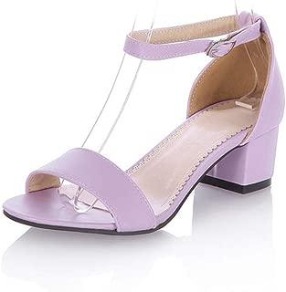 BalaMasa Womens ASL06856 Pu Heeled Sandals