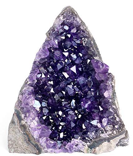Cristal de roche d'améthyste violet profond (250 g à 500 g) grappes brutes de quartz d'Uruguay