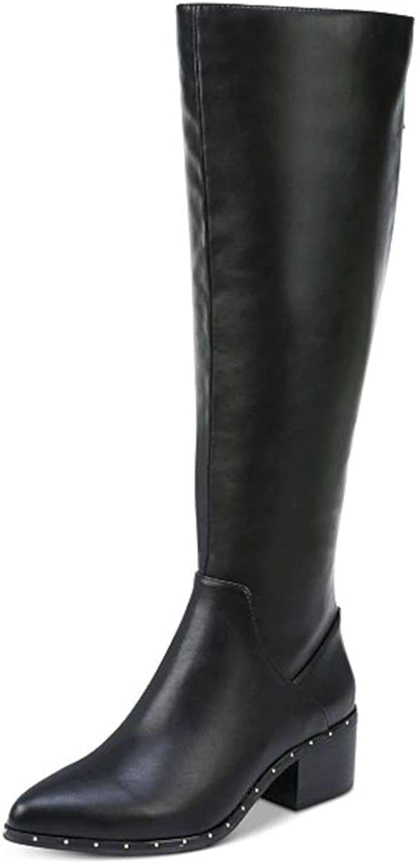 bar III Womens Gable Pointed Toe Knee High Fashion Boots, Black, Size 6.0