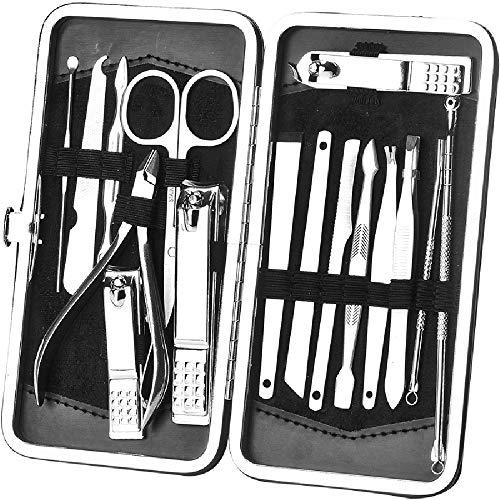 Trousse Manucure Coupe Ongle Manucure Pédicure Set Ongle Kit De Ciseaux À Ongles Outil De Soin De Manucure 16 Pcs