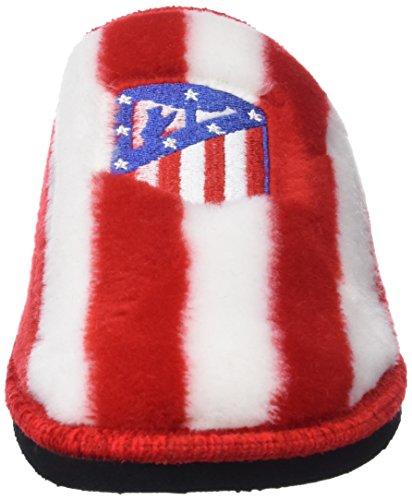 Andinas 799-20 Zapatillas de casa Unisex, Multicolor (RAYAS BLANCO-ROJO BORD. ATCO. MADRID), 45 EU