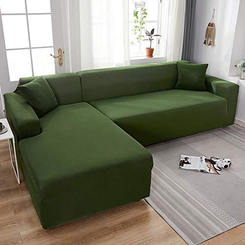 funda elástica para sofá protector para mascotas 2 plazas, fundas elásticas de licra, funda de sofá, toalla elástica para sofá, fundas de sofá de esquina para sala de estar, verde militar