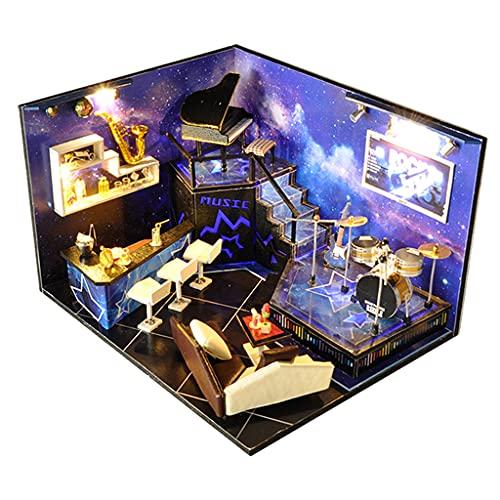 HomeDecTime FAI DA Te in Miniatura Casa delle Bambole con Polvere di Luce Copertura