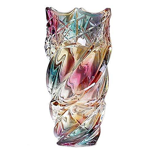 DXDUI Vaso di Vetro in Cristallo Trasparente Trasparente Vaso Tridimensionale in Vaso in Vaso Ondulato Bottiglia Morbida Bocca per Soggiorno Tavolo Tavolo Decorazione Decorazione,S