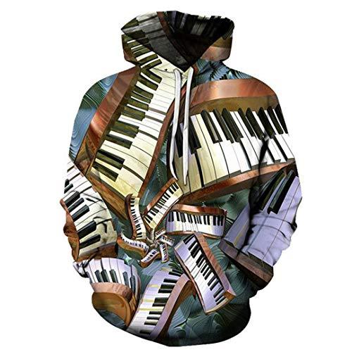 Piano 3D Hoodies Druck-Art- und Männer Harajuku Lustige Sweatshirts Hip Hop-Herbst-Winter-Kleidung As Shown 1 M