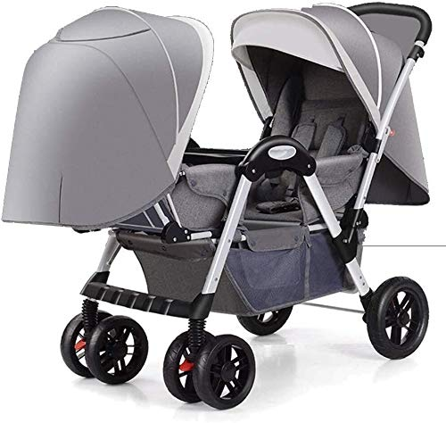 Best Buy! TZZ Double Stroller Tandem Seats with 5-Point Safety System for Newborn and Toddlers (Colo...