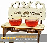 PISDEZ Romantisches Hochzeitsgeschenk - Hochzeitsbank - Hochzeitstag Geschenke für männer - Jahrestaggeschenk für Ihn - Hochzeitsdeko mit Gravur