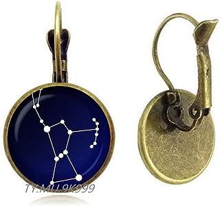 Yao0dianxku Orion Constellation Glass Stud Earrings.Night Sky Earrings.Stars,Astronomy,Space Jewelry,Glass cabochon Stud Earrings,Y202
