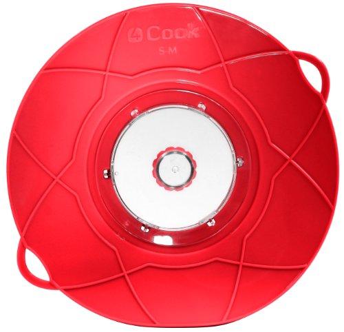 4Cook Überkochschutz und Spritzschutz multifunktionell Ø 26cm (rot)