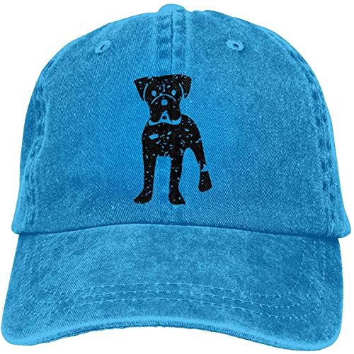 Hoklcvd Boxer Dog Vintage Funny Unisex Vintage Cotton Baseball Cap Snapback Dad Adjustable Denim Hats Comfortable12599