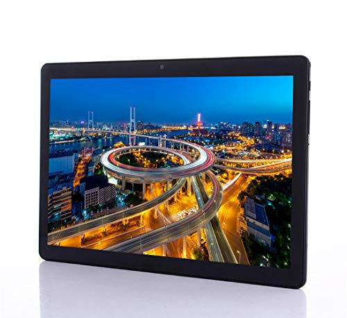 Tablet 10 Pollici Android 7.0- (Google Certified, Octa-Core, 4 GB RAM, 64 GB Storage, 1280x800 IPS Screen, Dual Cameras, Dual Sim Card Slots, WIFI, GPS, Bluetooth,Tablets ) (Black)