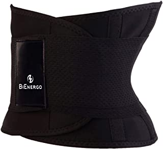 Bienergo Waist Trainer Belt for Women and Men – Slimming Body Shaper for Weight Loss – Back Support and Tummy Control Waist Cincher – Sport Girdle Ab Belt
