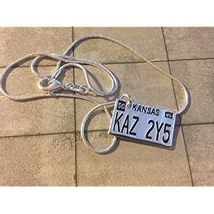 Supernatural - Licence Plate KAZ 2Y5 Necklace (4 different lengths)
