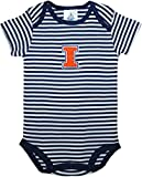 Creative Knitwear University of Illinois Fighting Illini Baby Striped Bodysuit Navy/White