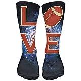 goodsale2019 Chaussettes de Compression classiques amour Rugby Galaxy Sport personnalisé athlétique 30 cm de long chaussettes pour hommes femmes chaussettes