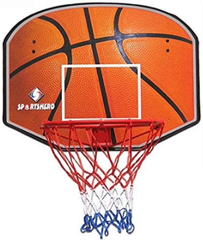 SONGYU-Basketball-Ständer Basketballkorb Innen/Außen Set, Hängen Holz Basketballkorb Mit Standard Kugel 45cm Durchmesser Basketballkorb (Color : B)