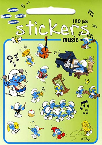 Los Pitufos - Stickers Música (Barbo Toys 8001) (APPRENTISSAGE)