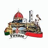 Imán 3D para nevera de Florencia Italia, regalo de recuerdo, decoración del hogar y la cocina, adhesivo magnético Firenze Italia