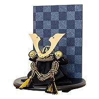 EVOLVE 五月人形 兜 コンパクト 飾り おしゃれ 端午の節句 KUROGANE 蒼風 生駒