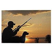 1000ピース ジグソーパズル 木製 『狩人と犬』 パズル 大人用 子供用 1000ピースチャレンジ ギフト プレゼント 減圧 パズルのピース 完成サイズ(75.5cm * 50.3cm)