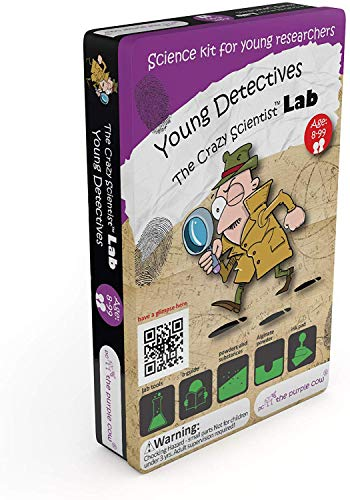 The Purple Cow The Crazy Scientist Lab Young Detectives Science Kit, Model Number: 5522023