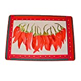BZ26 Farm House Red Hot Chili Peppers Accent Rug Fiesta String Chili Peppers 23 inches x 15.75 inches