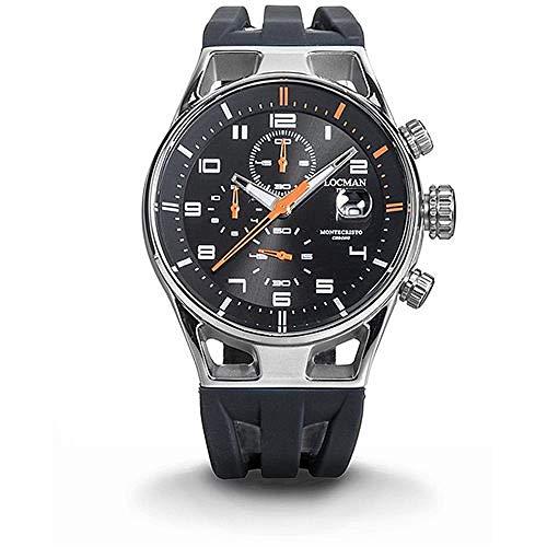 Reloj Locman Montecristo 0542a01s-00bkorsk al Cuarzo (batería) Acero quandrante Negro Correa Silicona