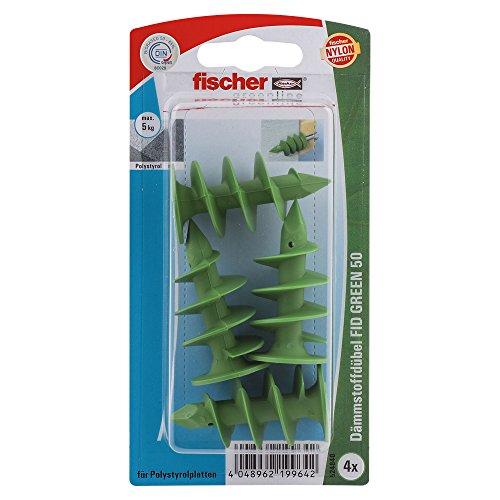 fischer 524840 K, Inhalt: 4 x Dämmstoffdübel FID Green 50