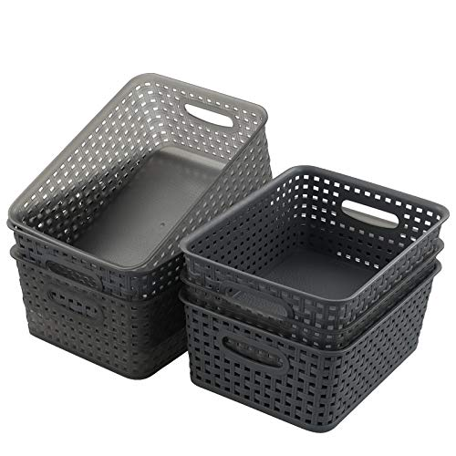Lesbye Organizador de cestas de plástico, cesta de plástico, juego de 6
