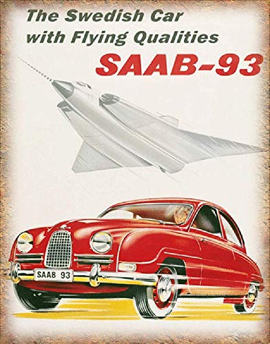 No dream SAAB-93 Iron Painting Wall Poster Metal Vintage for sale  Delivered anywhere in Ireland