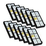 YanBan 12pcs Heap Filtro Kit para iRobot Roomba 800 900 Series 870 880 980 Aspiradora Accesorios...