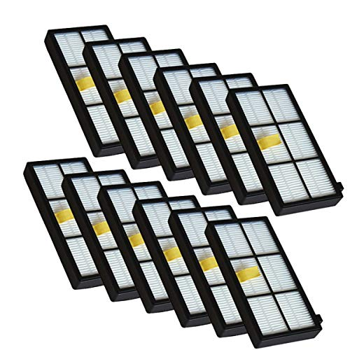 YanBan 12pcs Heap Filtro Kit para iRobot Roomba 800 900 Series 870 880 980 Aspiradora Accesorios Reemplazo