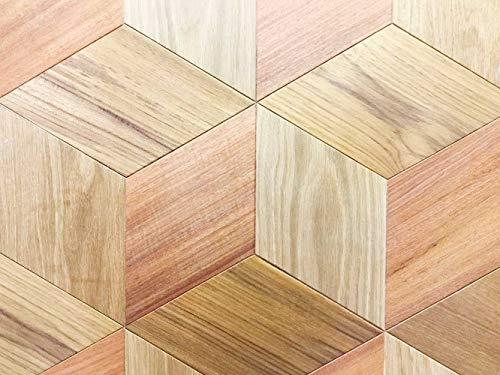 Oedim Tapis Carpette Vinylique Lino Parquet carré | 95 cm x 200 cm | Décoration Maison | Tapis en PVC | Sol en Vinyle