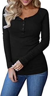Best womens red henley top Reviews