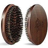 BFWood Cepillo Grande para la Barba de Cerdas de Jabalí para Hombres -...