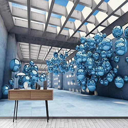 3D vliesbehang foto vlies premium fotobehang 3D Space Extension Ball achtergrond 350*245cm #004.