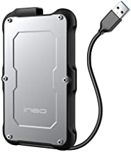 ineo 2.5 inch USB 3.0 Type A Rugged Waterproof & Shockproof External Hard Drive Enclosure for 2.5 inch 9.5mm & 7mm SATA HD...