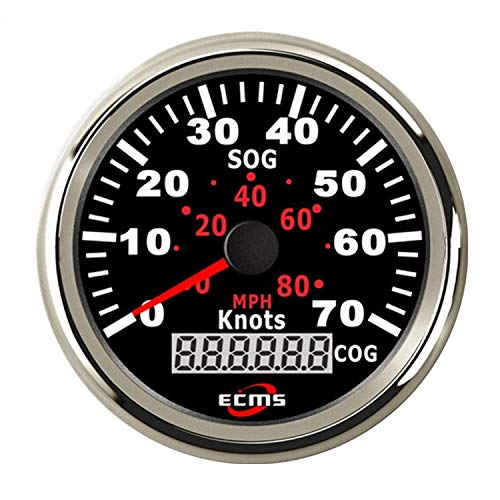 Fantastic Deal! 3-3/8 85MM Motocycle Car Vehicle GPS Speedometer 70Knots with Backlight COG Display...