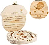 KinshopS Creativo Caja de Dientes de Bebé Ahorro Caja de Almacenamiento de Madera de los Niños Titular de Dientes Organizador