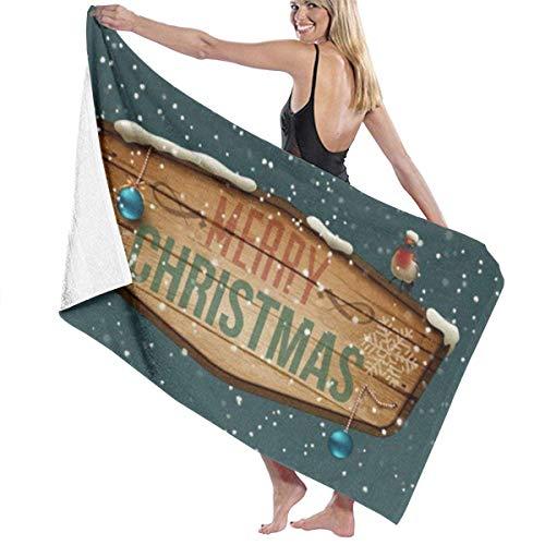 Toalla de baño de Nieve navideña Playa SPA Ducha Envoltura de baño Luz Suave Cómodo 80X130 Cm
