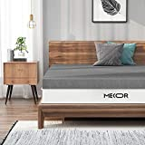 Mecor 3 Inch Queen Bamboo Charcoal Infused Memory Foam Mattress Topper, Queen Size Bed Mattress Pad, CertiPUR-US Certified & Ventilated Foam Topper for Bed, Gray